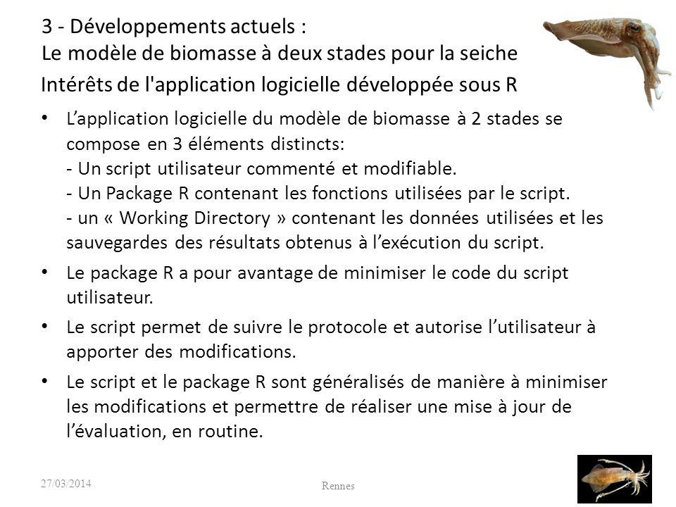 Intérêts de l application logicielle développée sous R