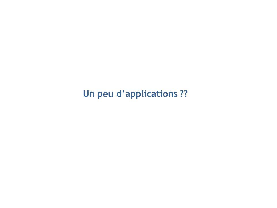Un peu d'applications