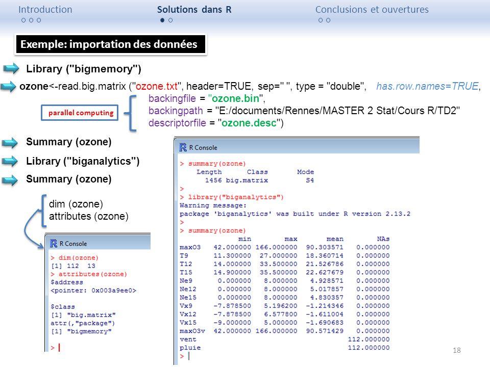 Exemple: importation des données