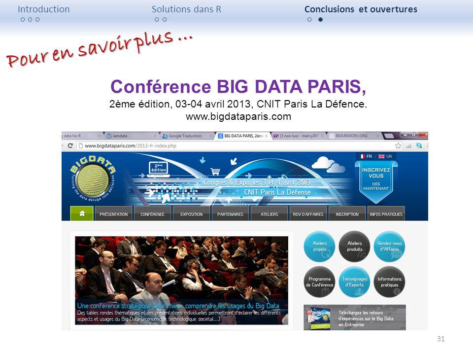Conférence BIG DATA PARIS,