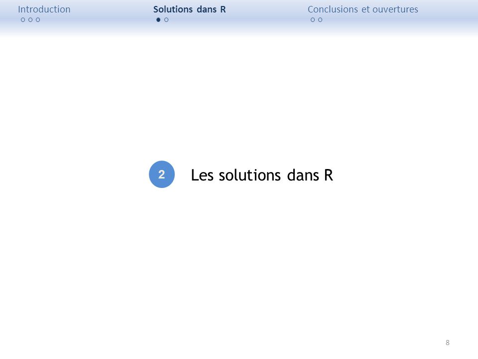 Les solutions dans R 2 Introduction Solutions dans R