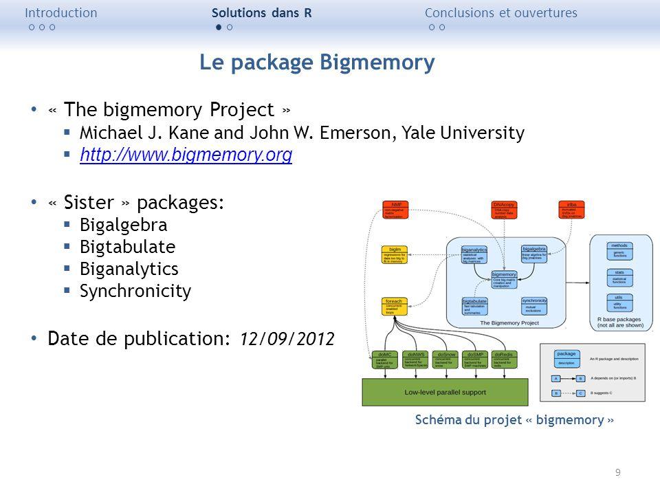 Schéma du projet « bigmemory »