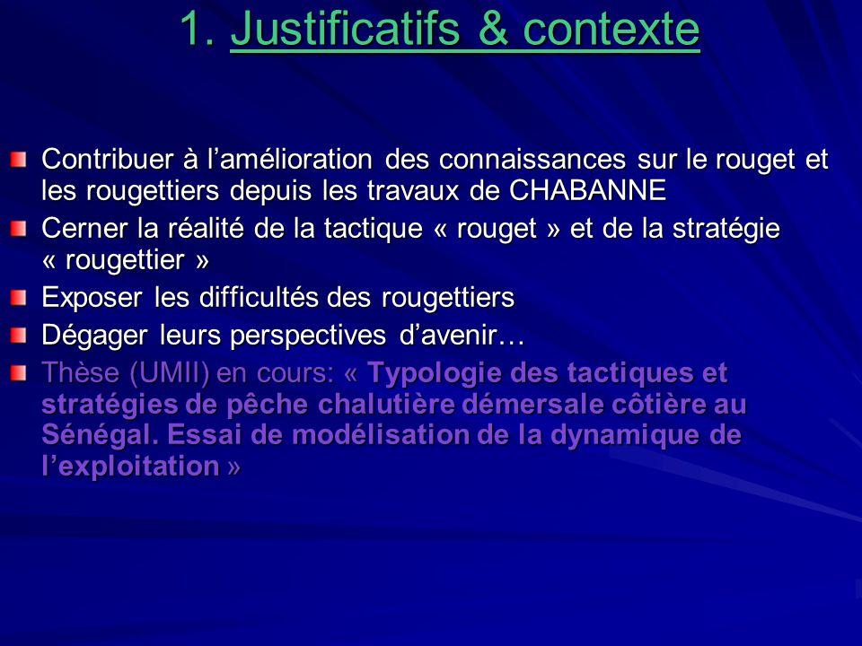 1. Justificatifs & contexte