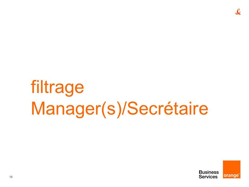 filtrage Manager(s)/Secrétaire