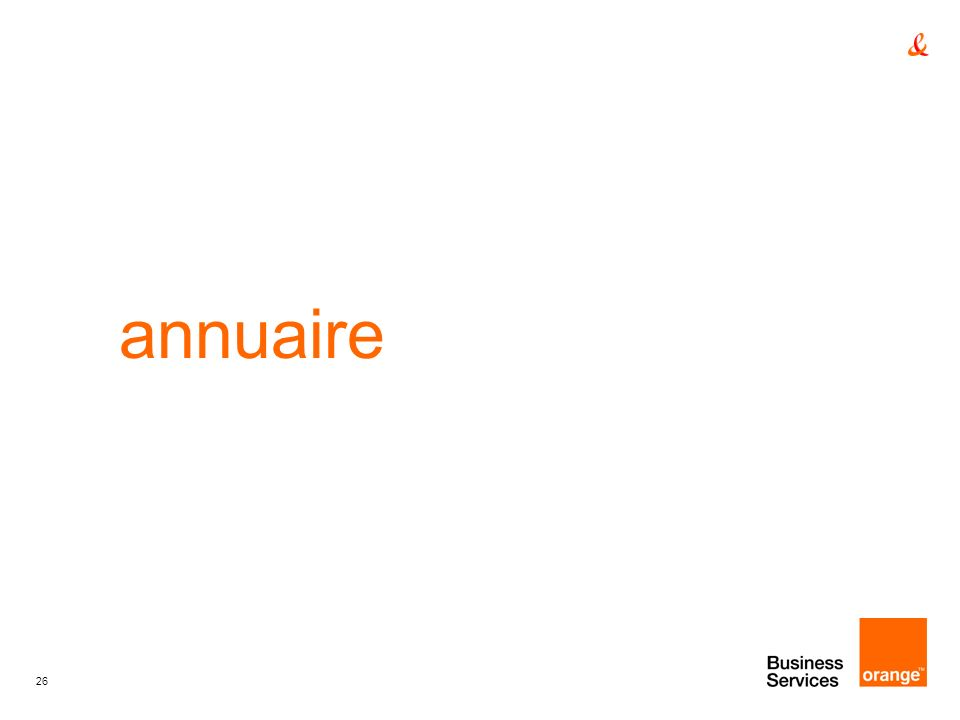 annuaire titre de la presentation