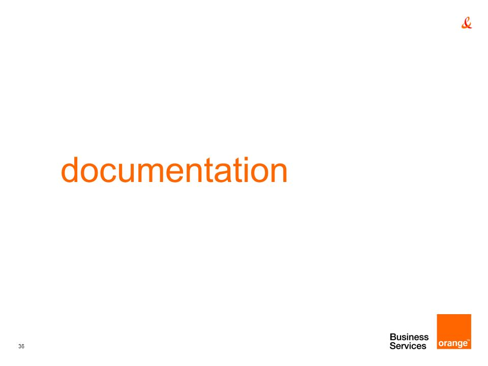 documentation titre de la presentation