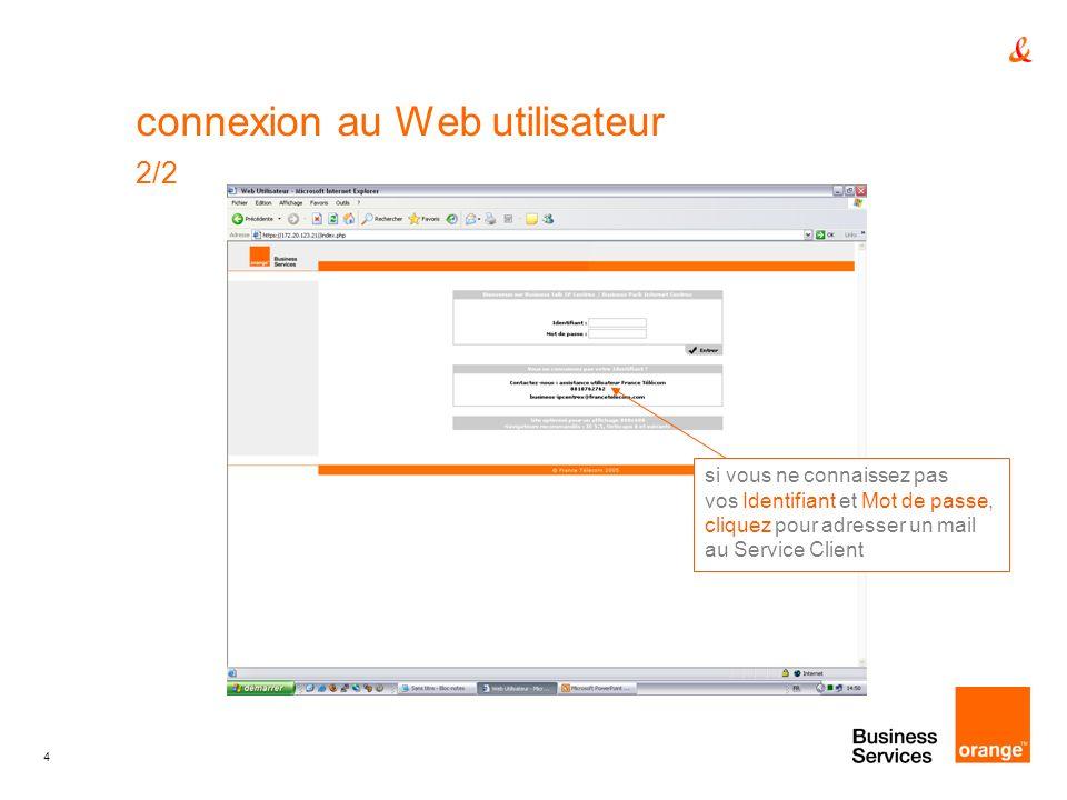 connexion au Web utilisateur 2/2