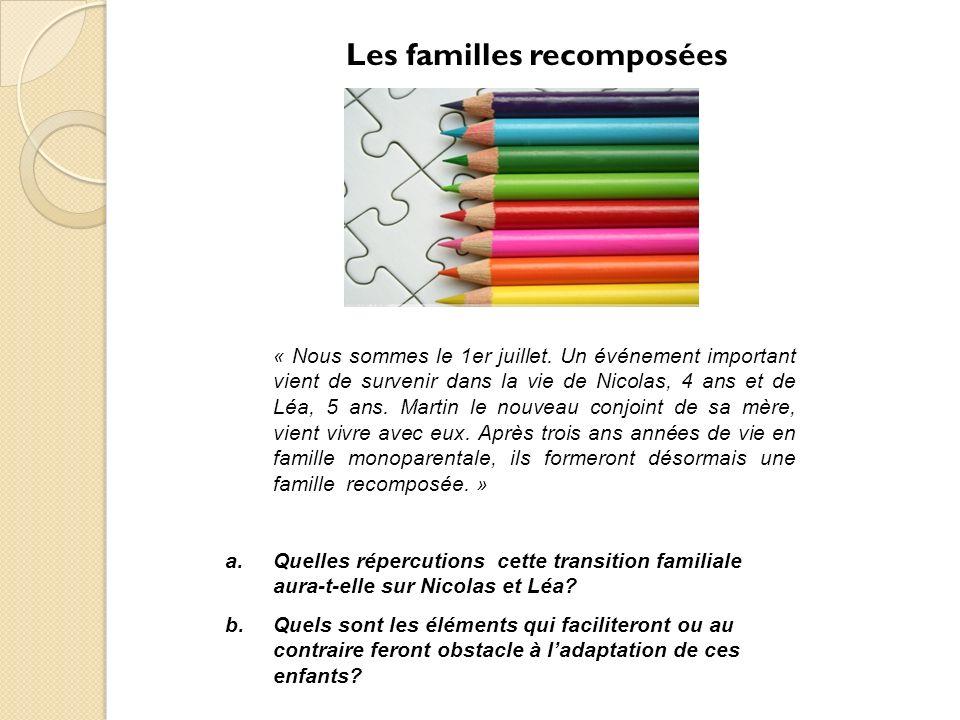 Les familles recomposées