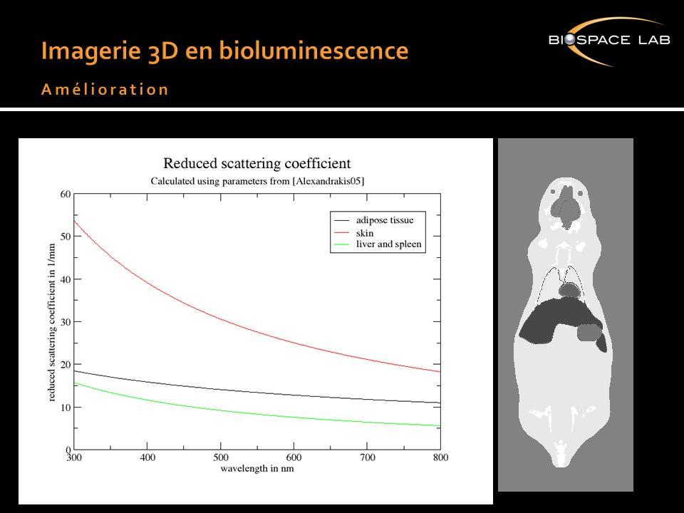 Imagerie 3D en bioluminescence Amélioration