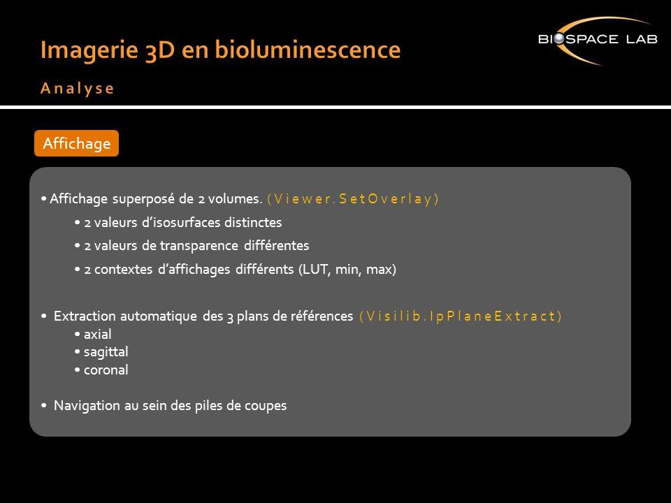 Imagerie 3D en bioluminescence Analyse