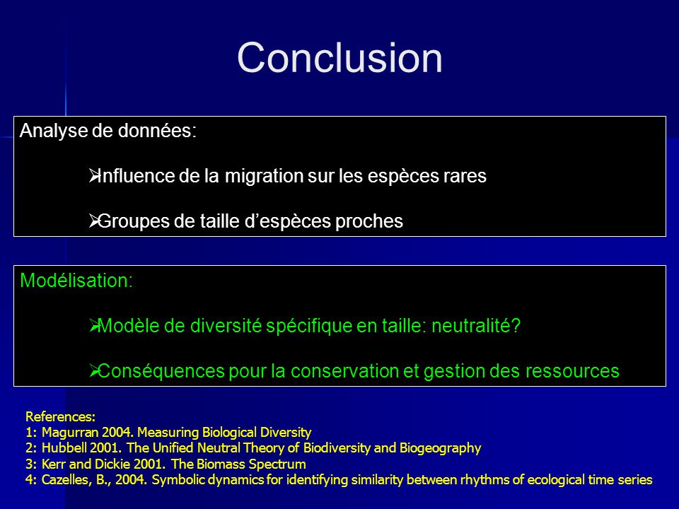 Conclusion Analyse de données: