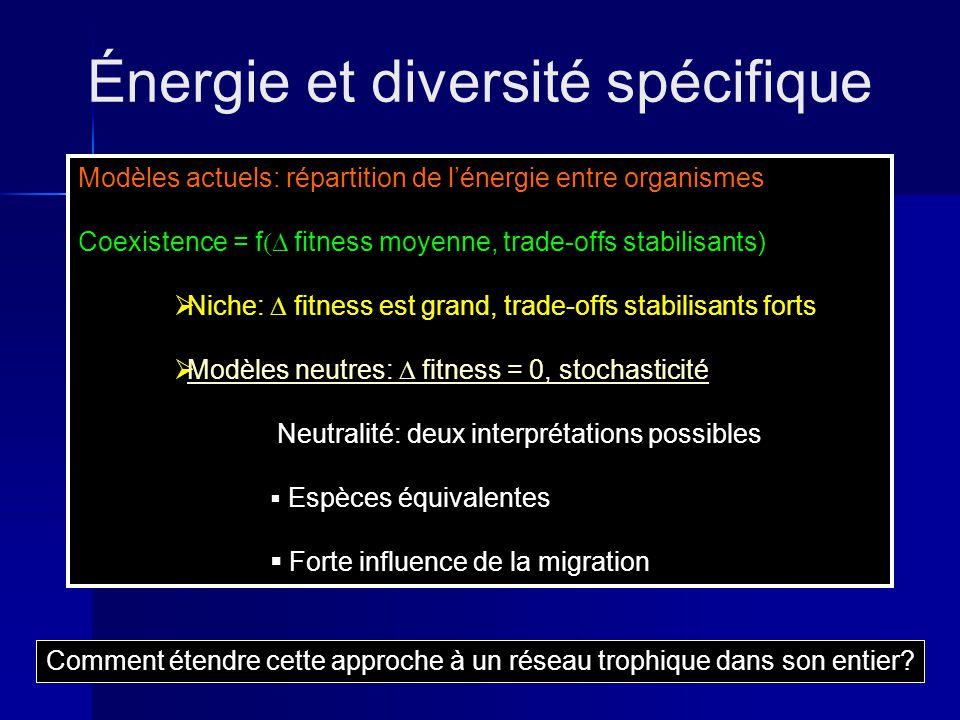 Énergie et diversité spécifique
