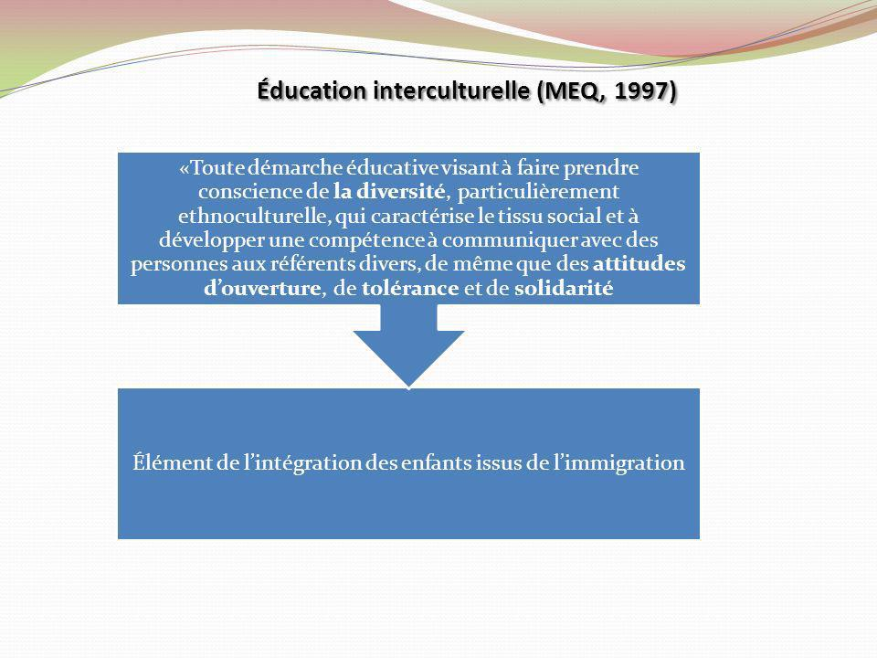 Éducation interculturelle (MEQ, 1997)