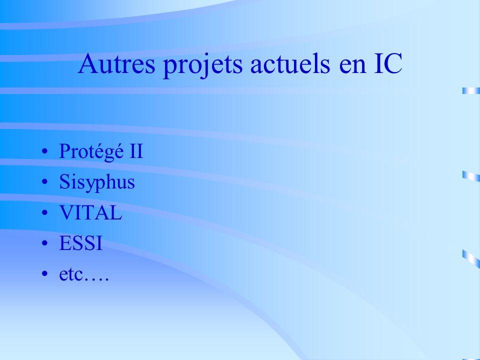 Autres projets actuels en IC