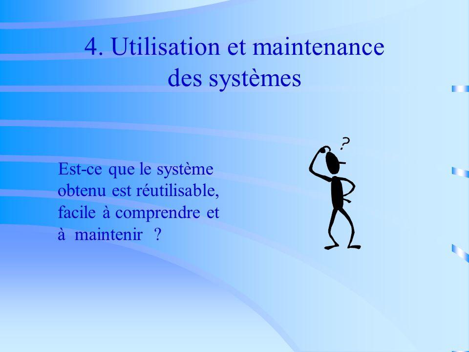 4. Utilisation et maintenance des systèmes