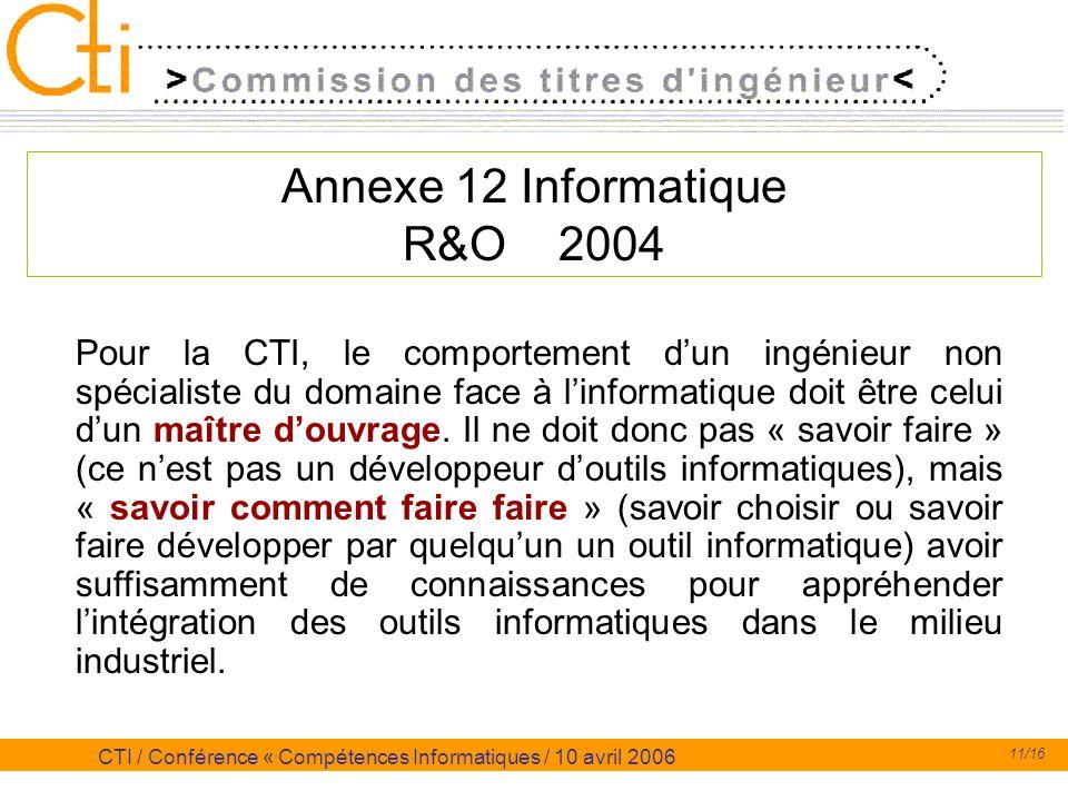 Annexe 12 Informatique R&O 2004