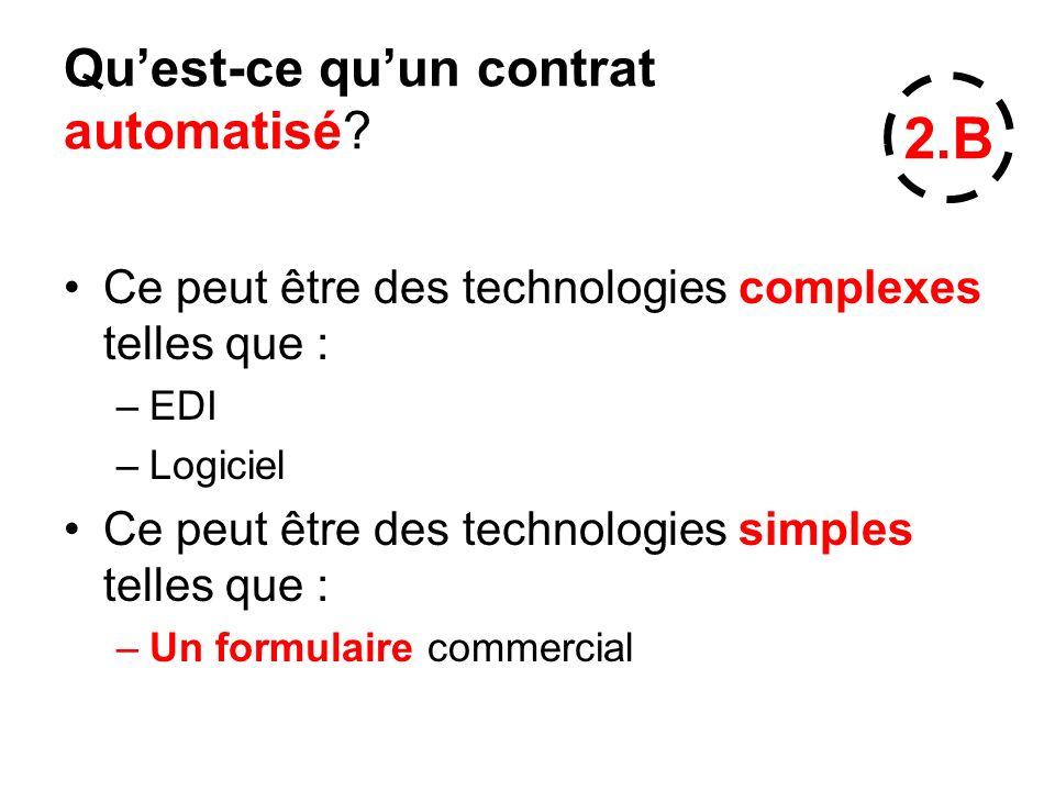 Qu'est-ce qu'un contrat automatisé