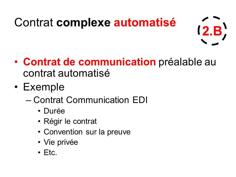 Contrat complexe automatisé