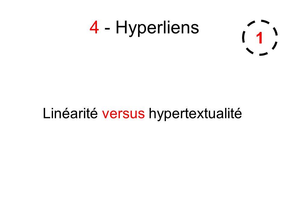 Linéarité versus hypertextualité