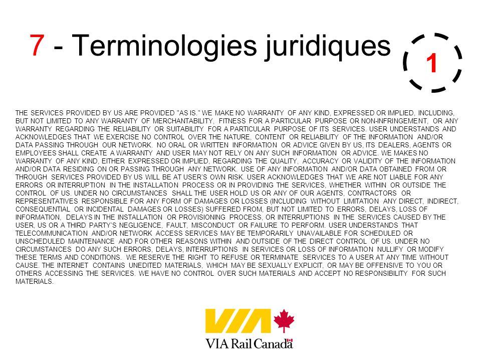 7 - Terminologies juridiques