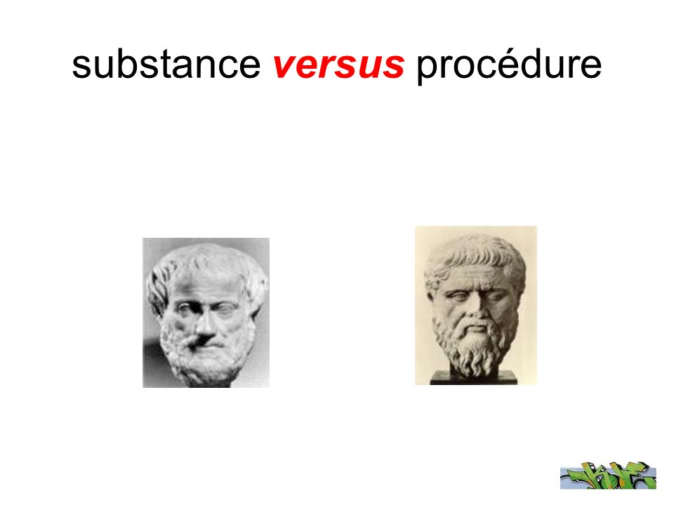 substance versus procédure