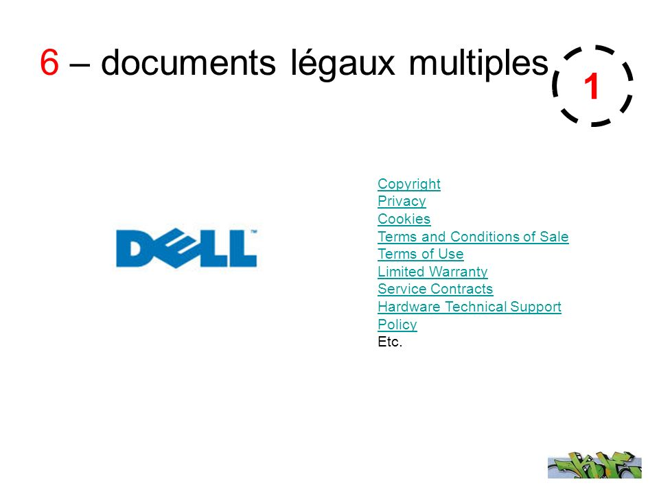 6 – documents légaux multiples