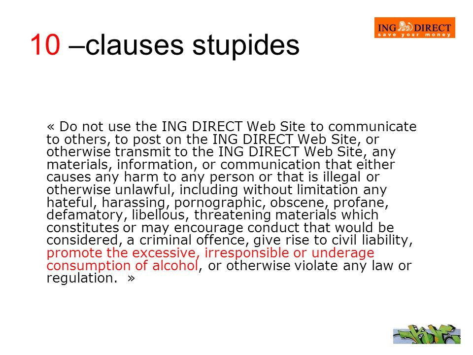 10 –clauses stupides