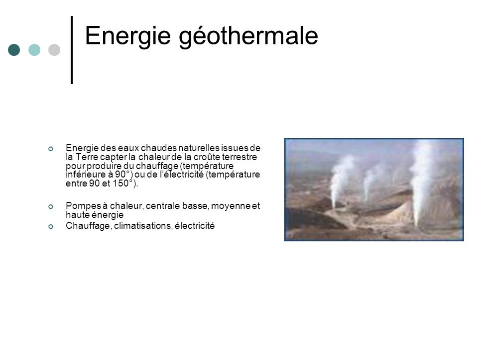 Energie géothermale