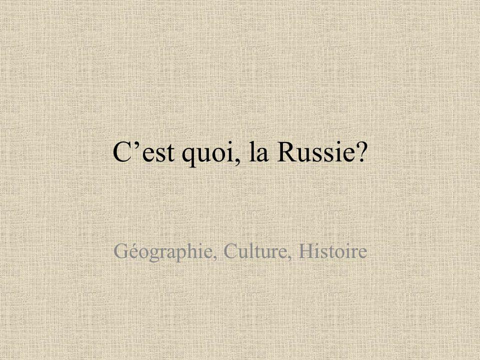 Géographie, Culture, Histoire