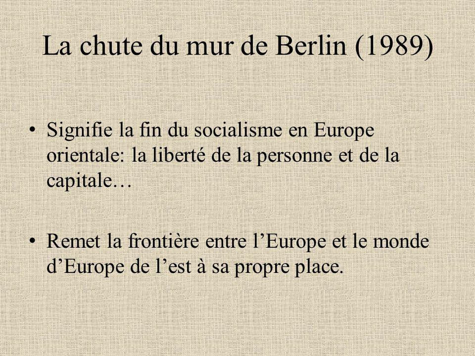 La chute du mur de Berlin (1989)