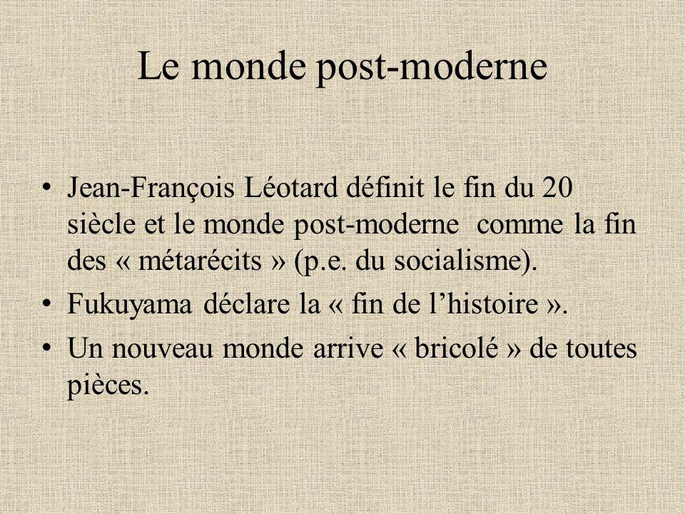 Le monde post-moderne
