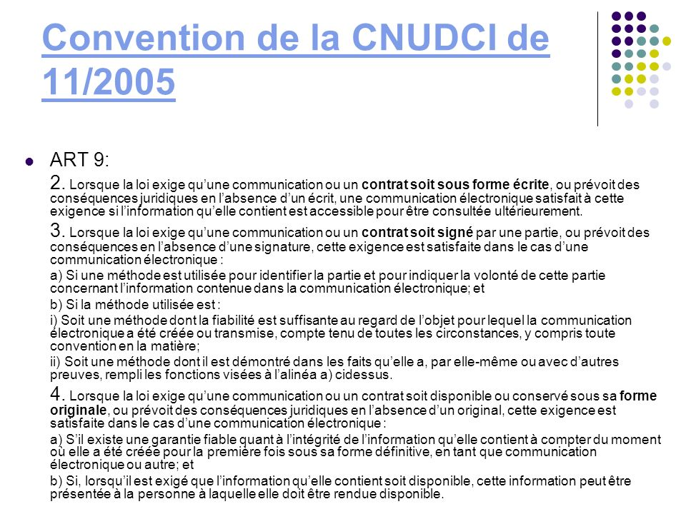 Convention de la CNUDCI de 11/2005