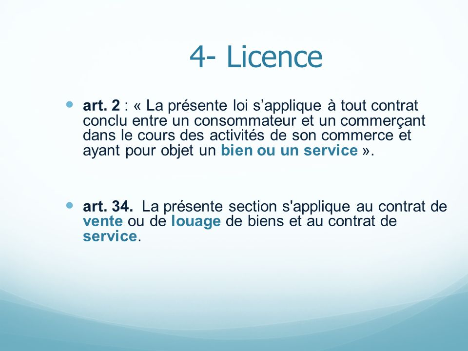 4- Licence