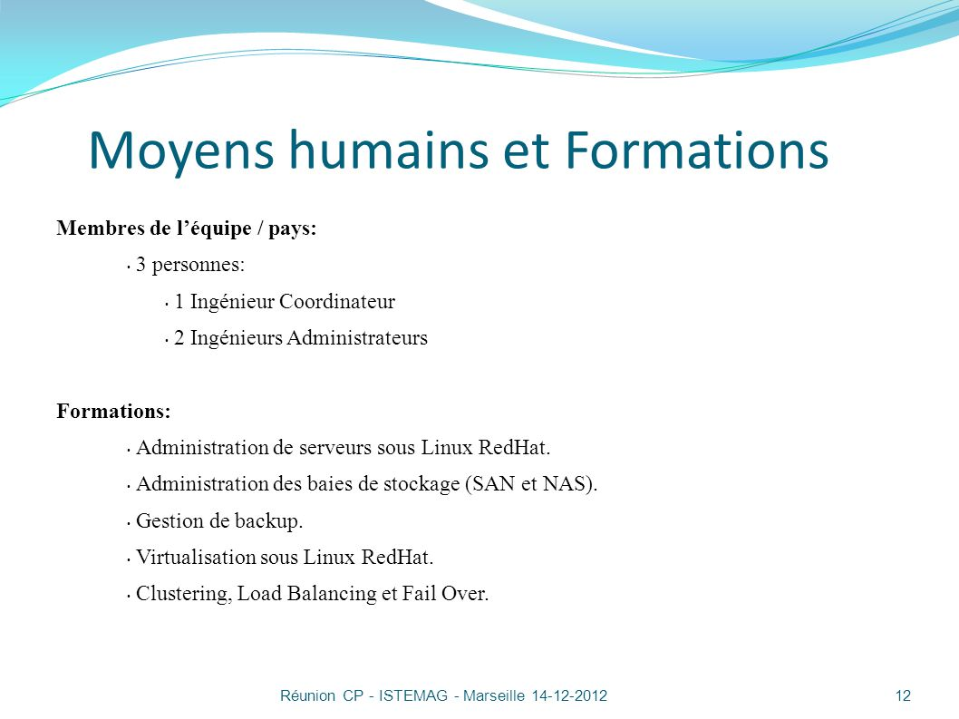 Moyens humains et Formations