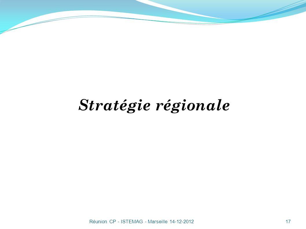 Stratégie régionale Réunion CP - ISTEMAG - Marseille 14-12-2012