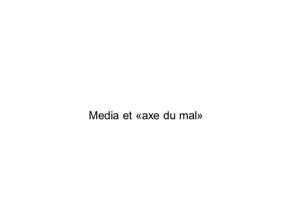 Media et «axe du mal»