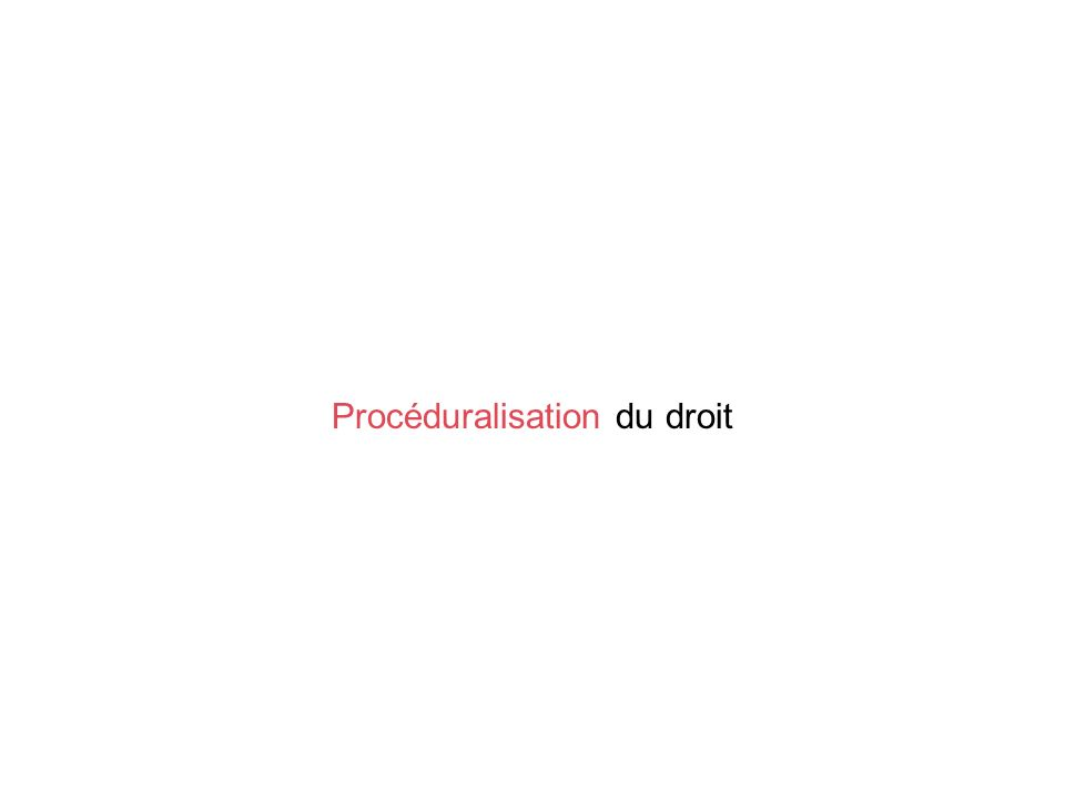 Procéduralisation du droit