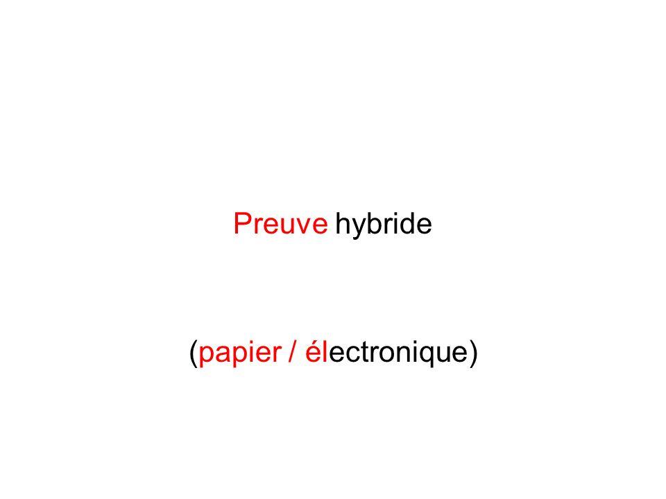 (papier / électronique)