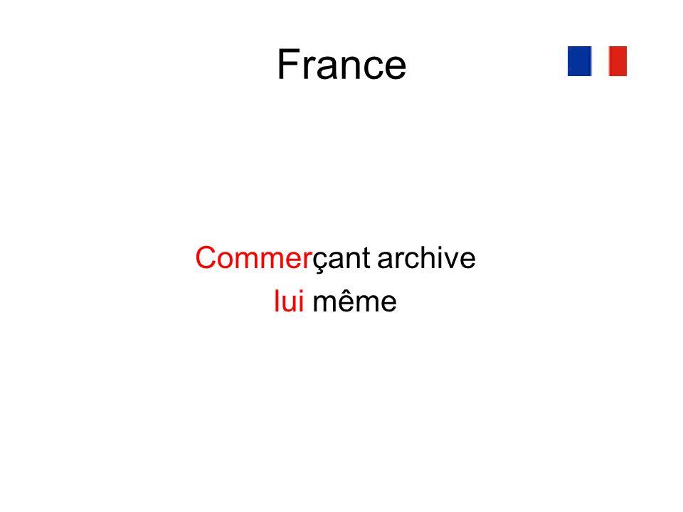 France Commerçant archive lui même