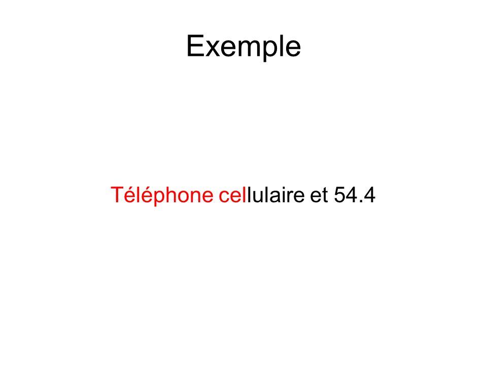 Téléphone cellulaire et 54.4