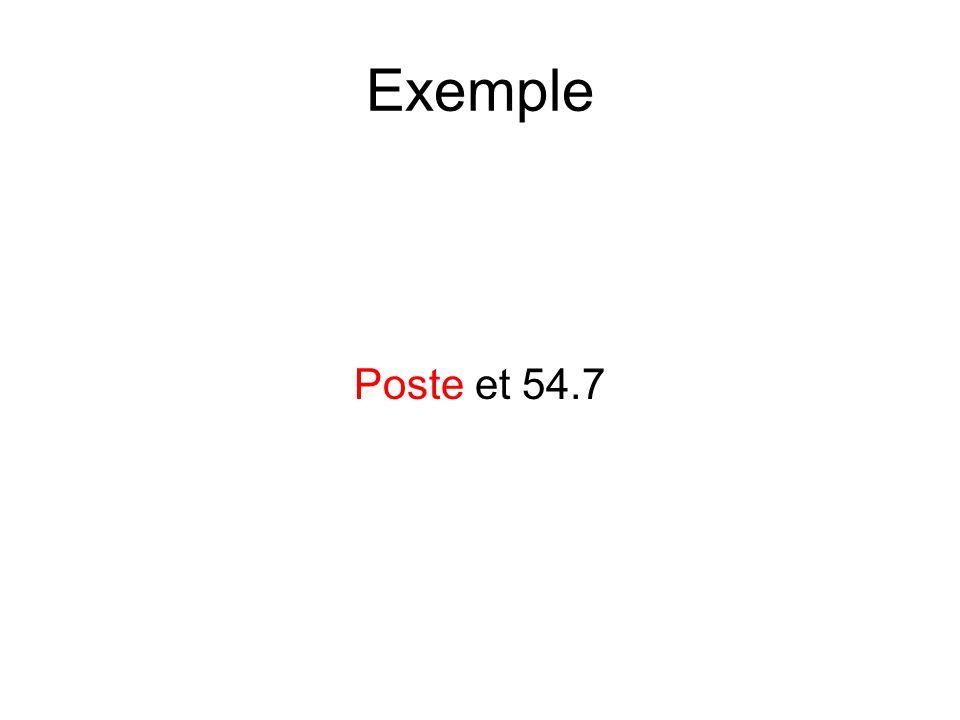 Exemple Poste et 54.7