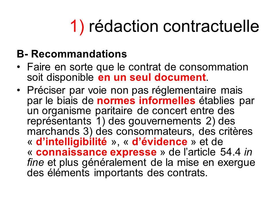 1) rédaction contractuelle
