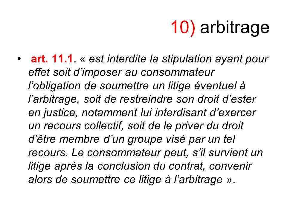 10) arbitrage