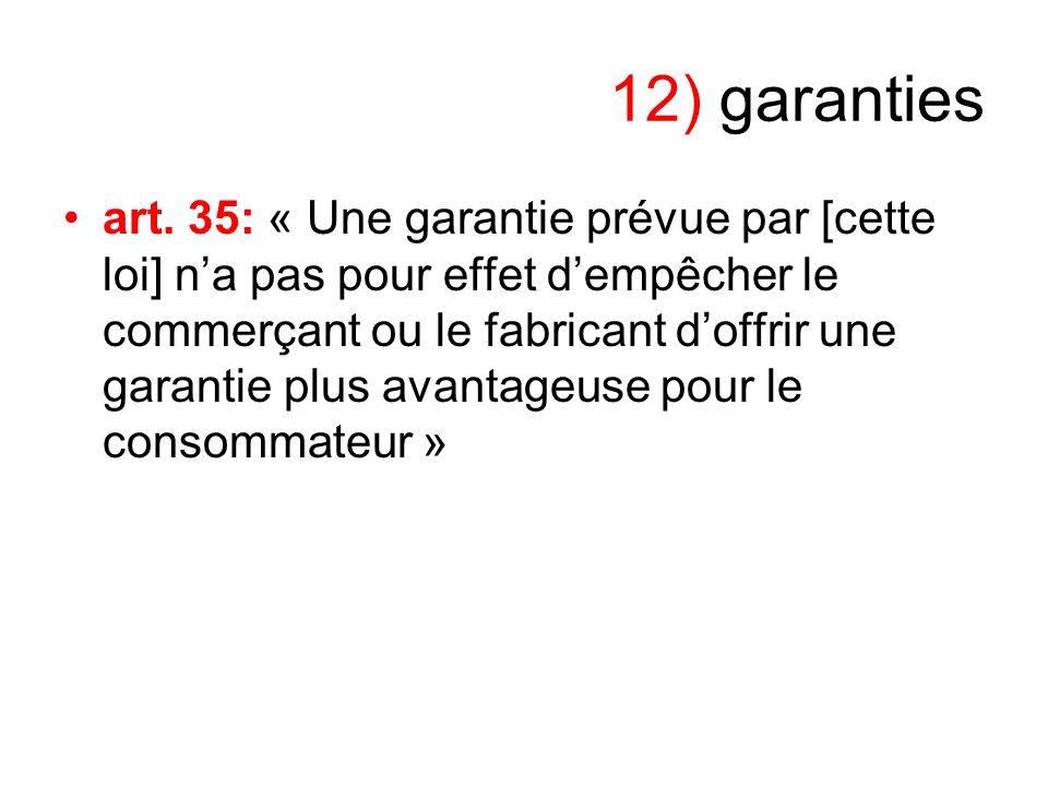 12) garanties