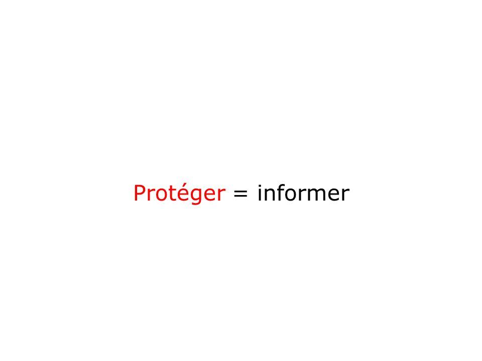 Protéger = informer