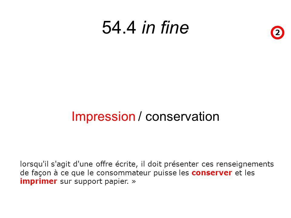 Impression / conservation