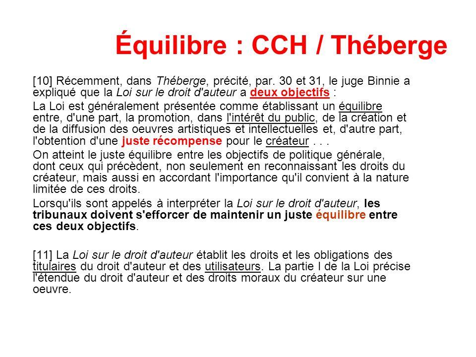 Équilibre : CCH / Théberge