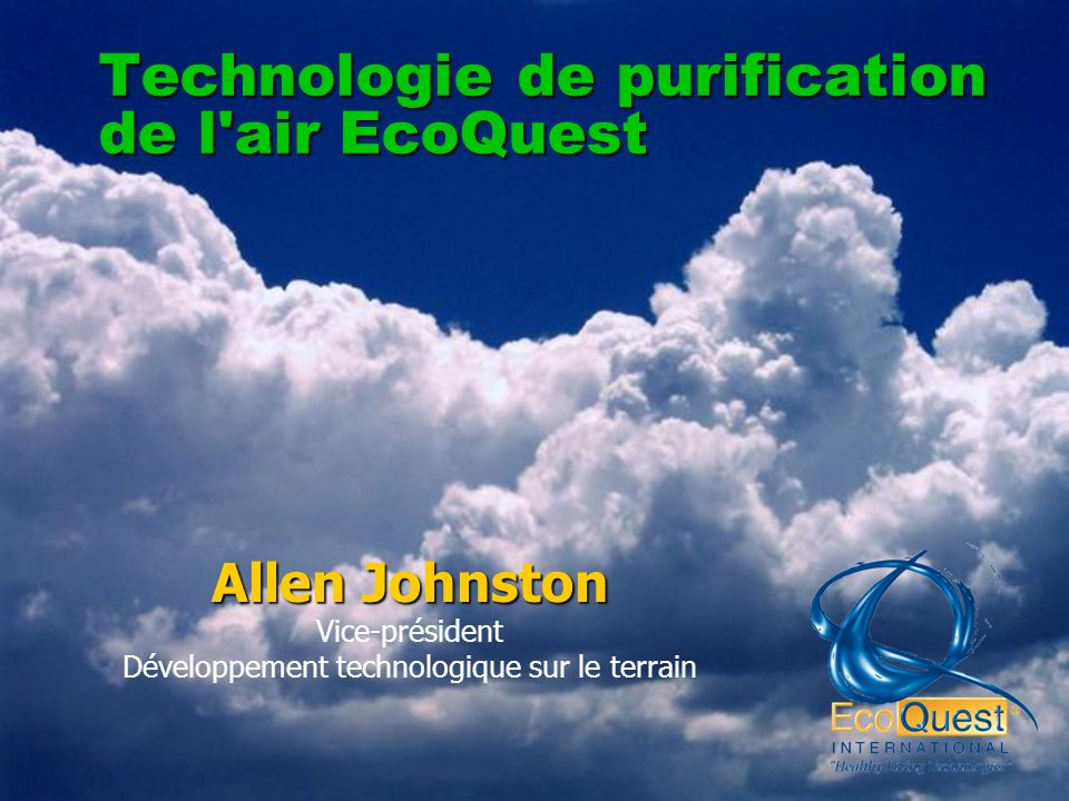 Technologie de purification de l air EcoQuest