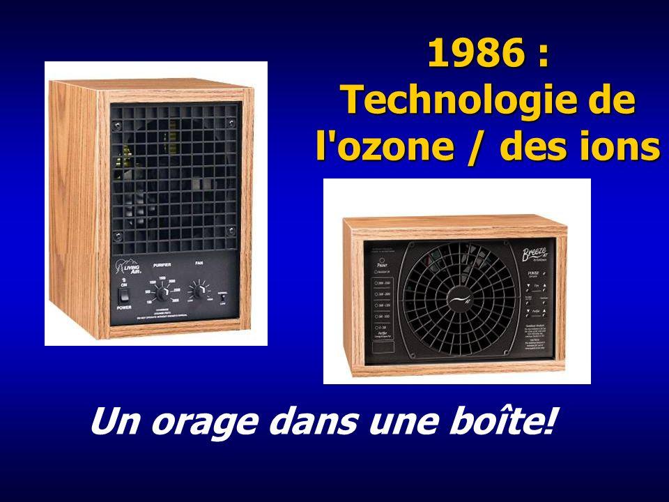 1986 : Technologie de l ozone / des ions