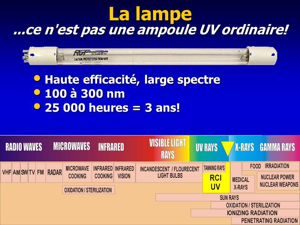...ce n est pas une ampoule UV ordinaire!